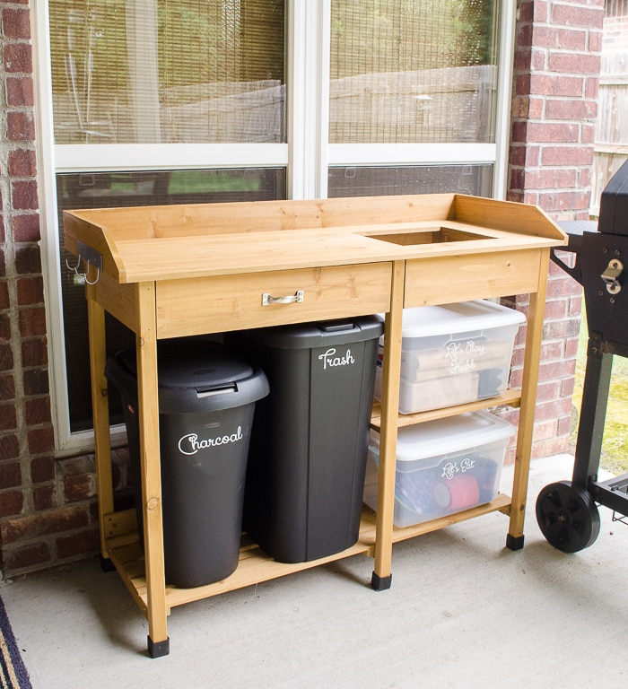 This is exactly what I've been looking for! Our patio needed storage space and serving space, but we didn't have much room or a big budget. I should have ordered this affordable stand years ago!