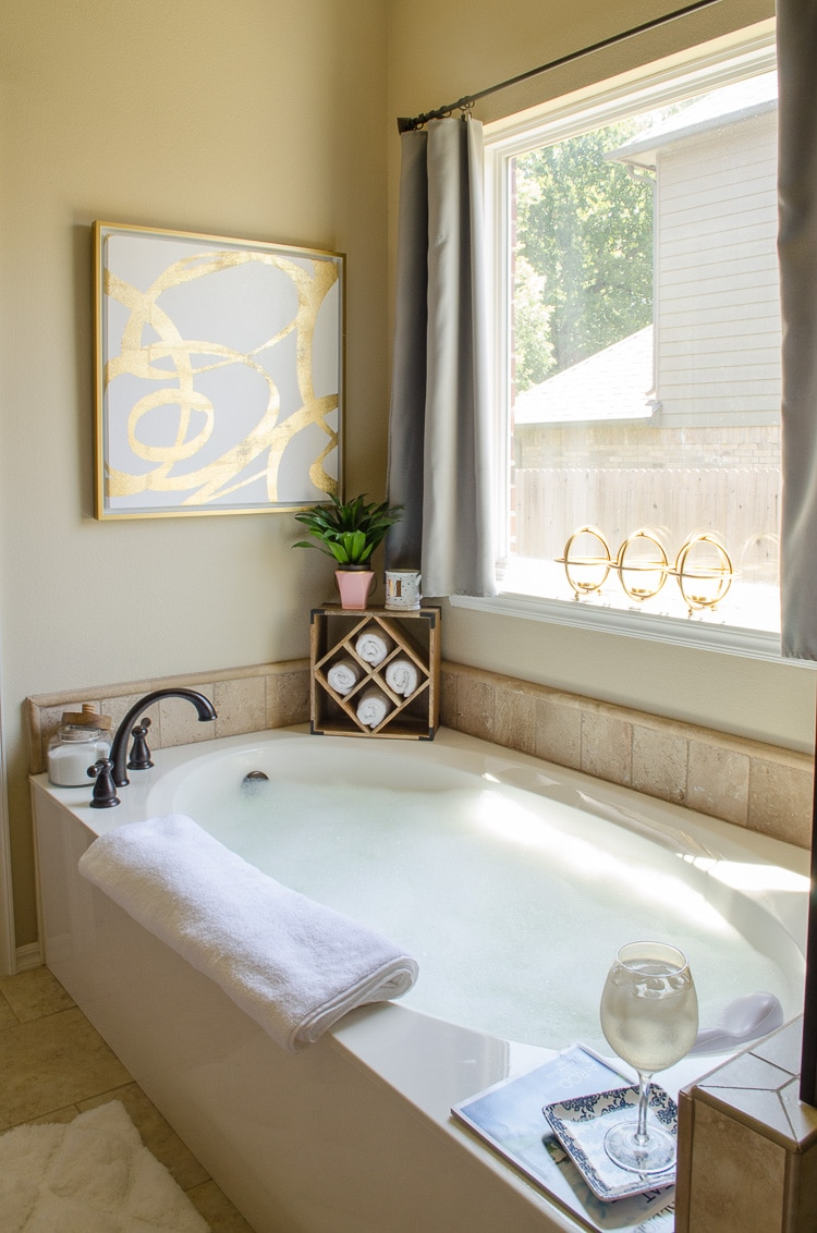 Glam Farmhouse Master Bathroom