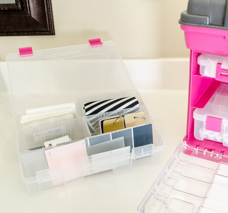 What a brilliant organizer! I could have a few of these around the house for different things, but I'm definetely going to pick up one for my paint samples, fabric swatches and command hooks! / How to Organize Paint Cards