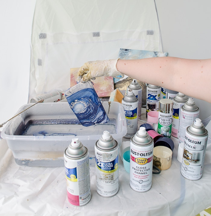 Marbling with Spray Paint-16