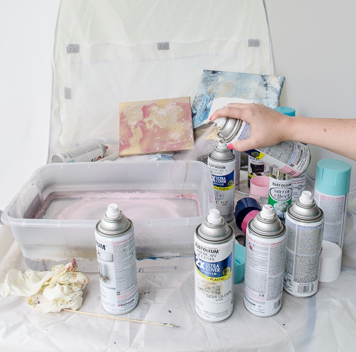 Marbling with Spray Paint-6