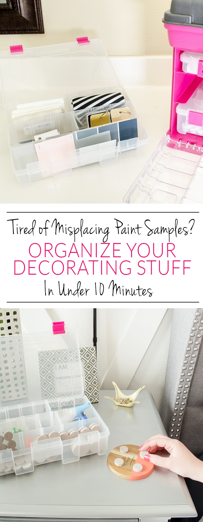 What a brilliant organizer! I could have a few of these around the house for different things, but I'm definetely going to pick up one for my paint samples, fabric swatches and command hooks!