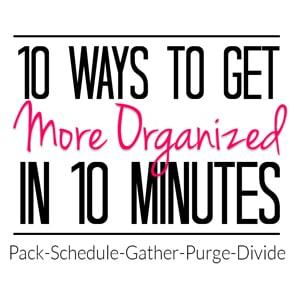FAST Organizing Tips