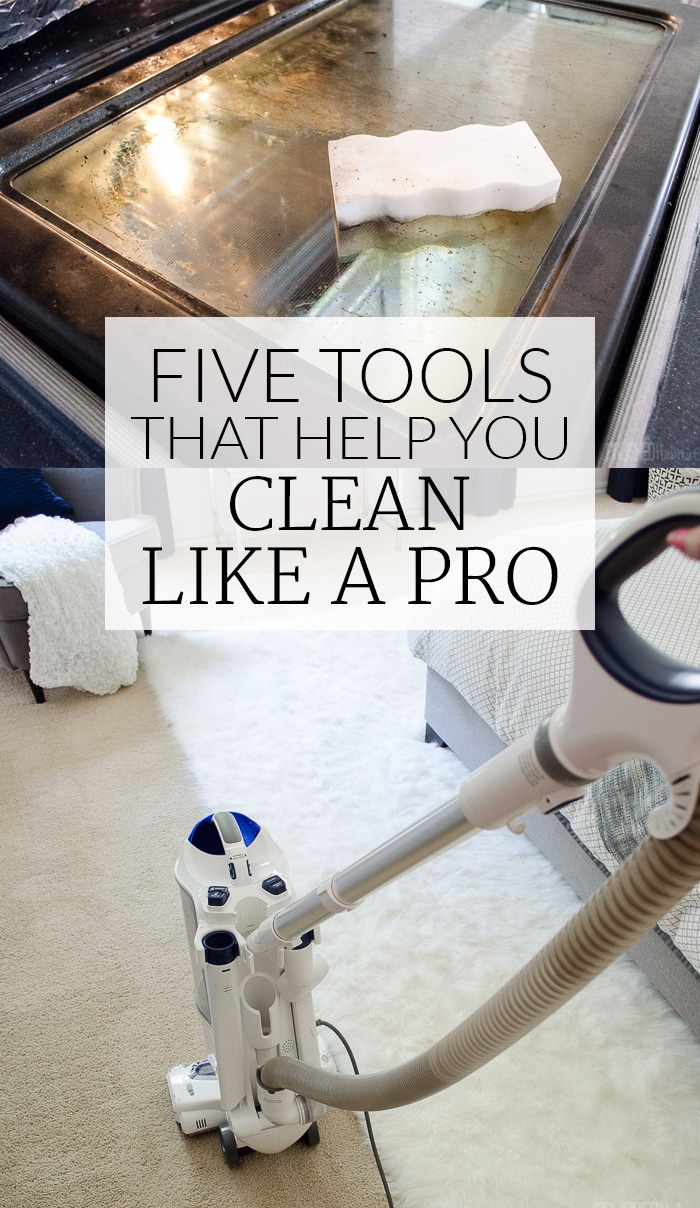 I wish I knew about some of these cleaning tools years ago. Like, why don't all vacuums use the handle as the hose? So smart! | 5 Tools that Help You Clean Like a Pro