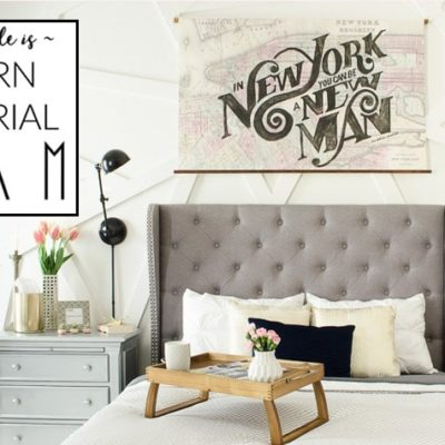 Modern Industrial Glam Home Style:  Before & After Photos