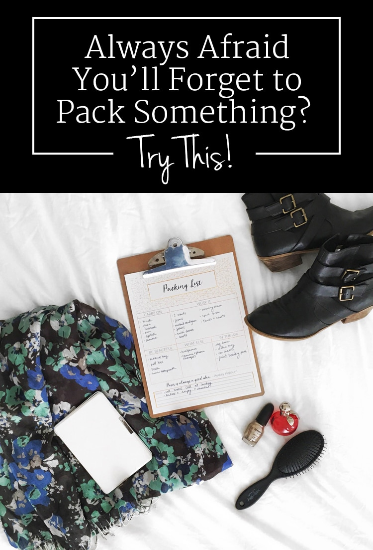 I haven't forgot my phone charger or anything else since I started using these tips! Love the free printable packing list too.