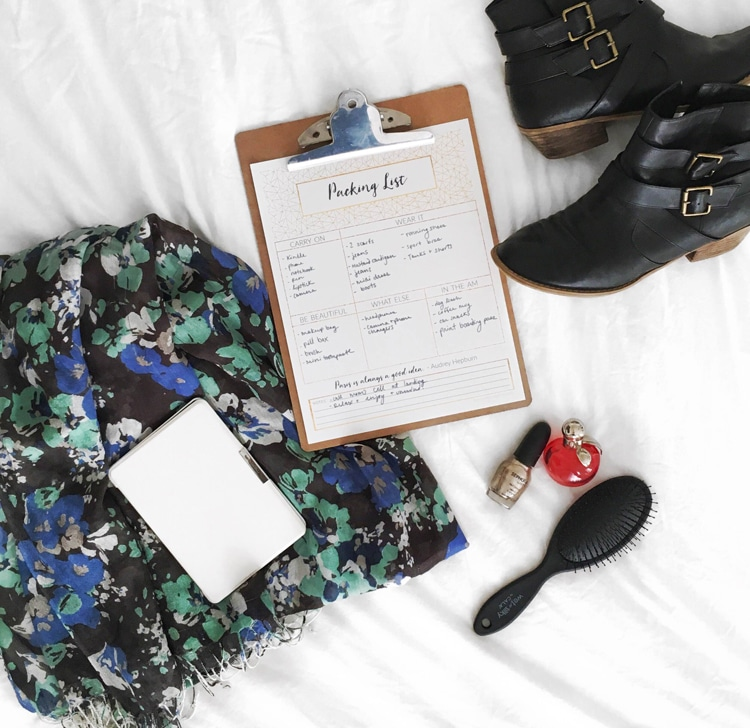 Packing Tips & A Free Printable Packing List