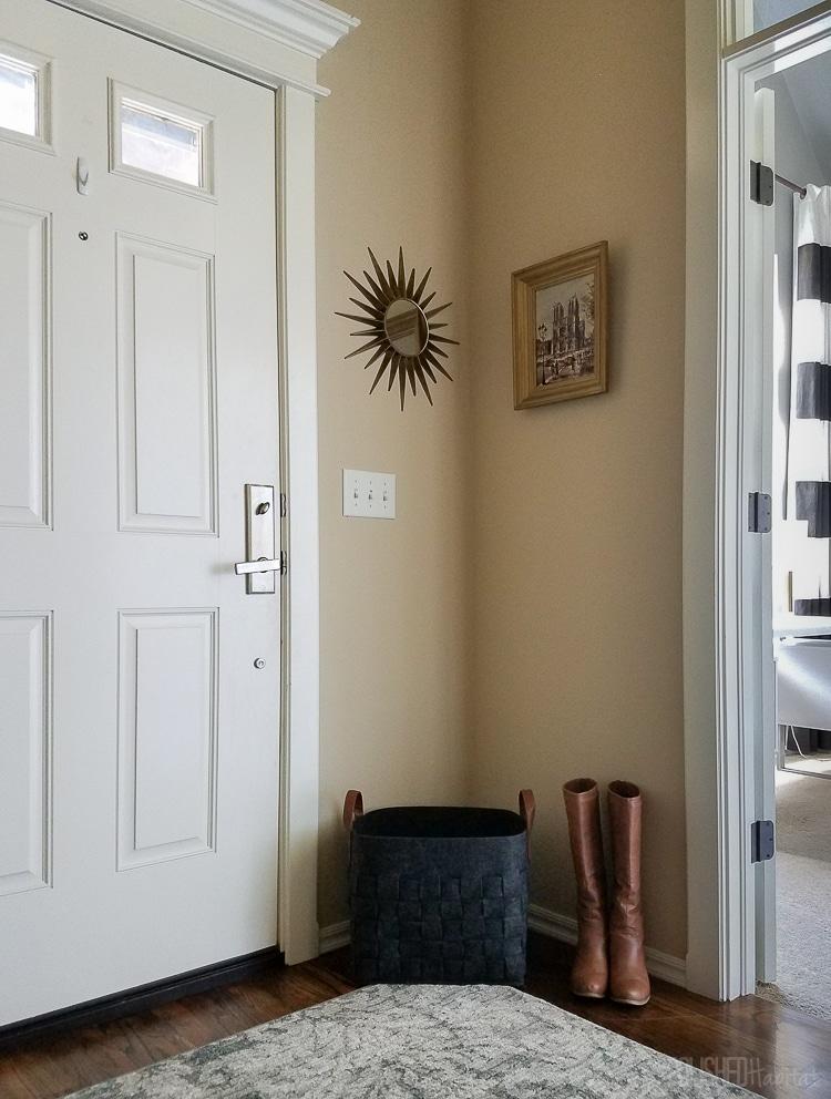 Modern industrial glam entryway by Polished Habitat