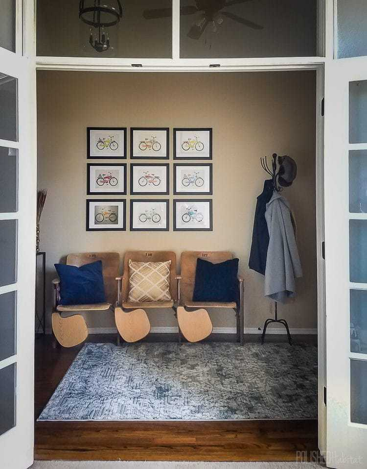 Modern industrial glam entryway by Polished Habitat