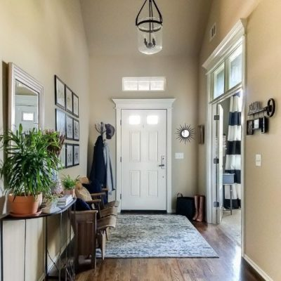 Get a High-End Look for Less {Entryway Makeover}