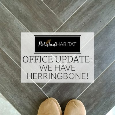 FUNCTIONAL & FABULOUS OFFICE: The floor is done! {ORC WEEK #4}