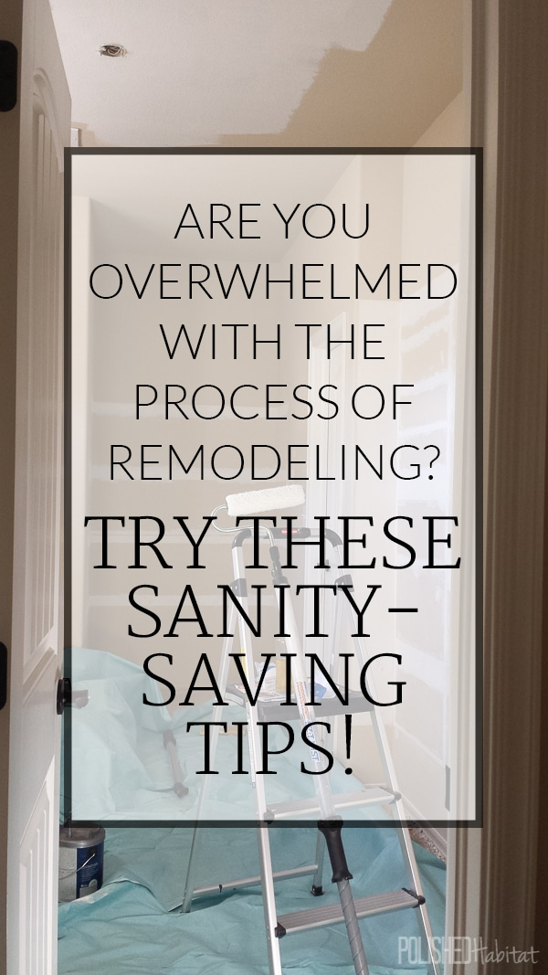 Do you have remodeling or redecorating stress? We learned how to minimize the stress and you can too!