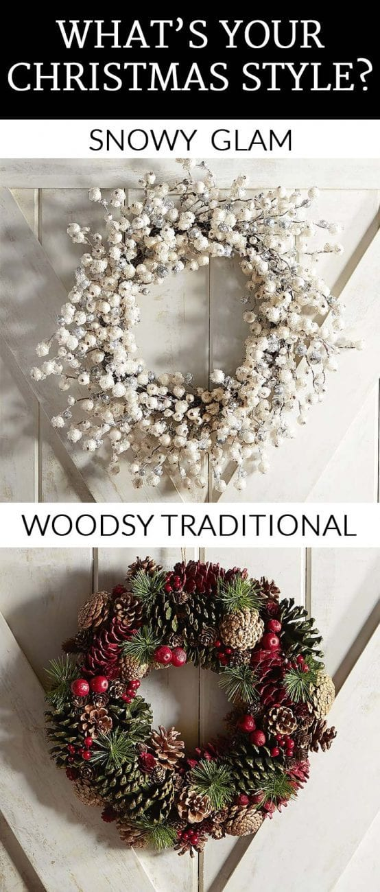 Top picks for snowy glam AND woodsy traditional Christmas decor. Which is your favorite? Post sponsored by Pier 1 Imports.