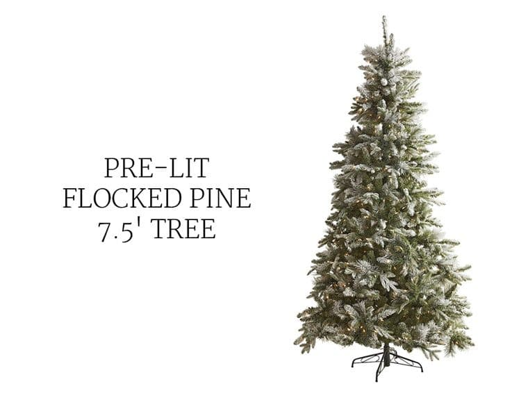 flocked-christmas-tree