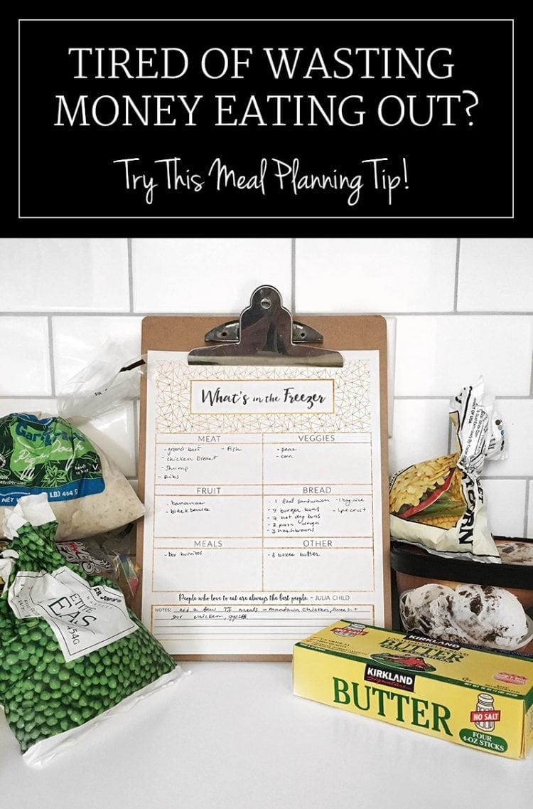 Love this free printable - I had no idea what we had buried in the freezer!