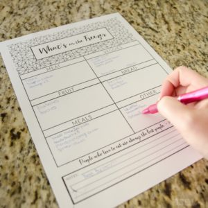 Freezer Inventory Printable - This make meal planning so much easier!