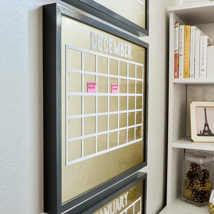 How To Make A Custom Dry Erase Board Without A Custom Budget   Polished  Habitat