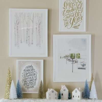 Winter Gallery Wall with Minted art - sponsored post