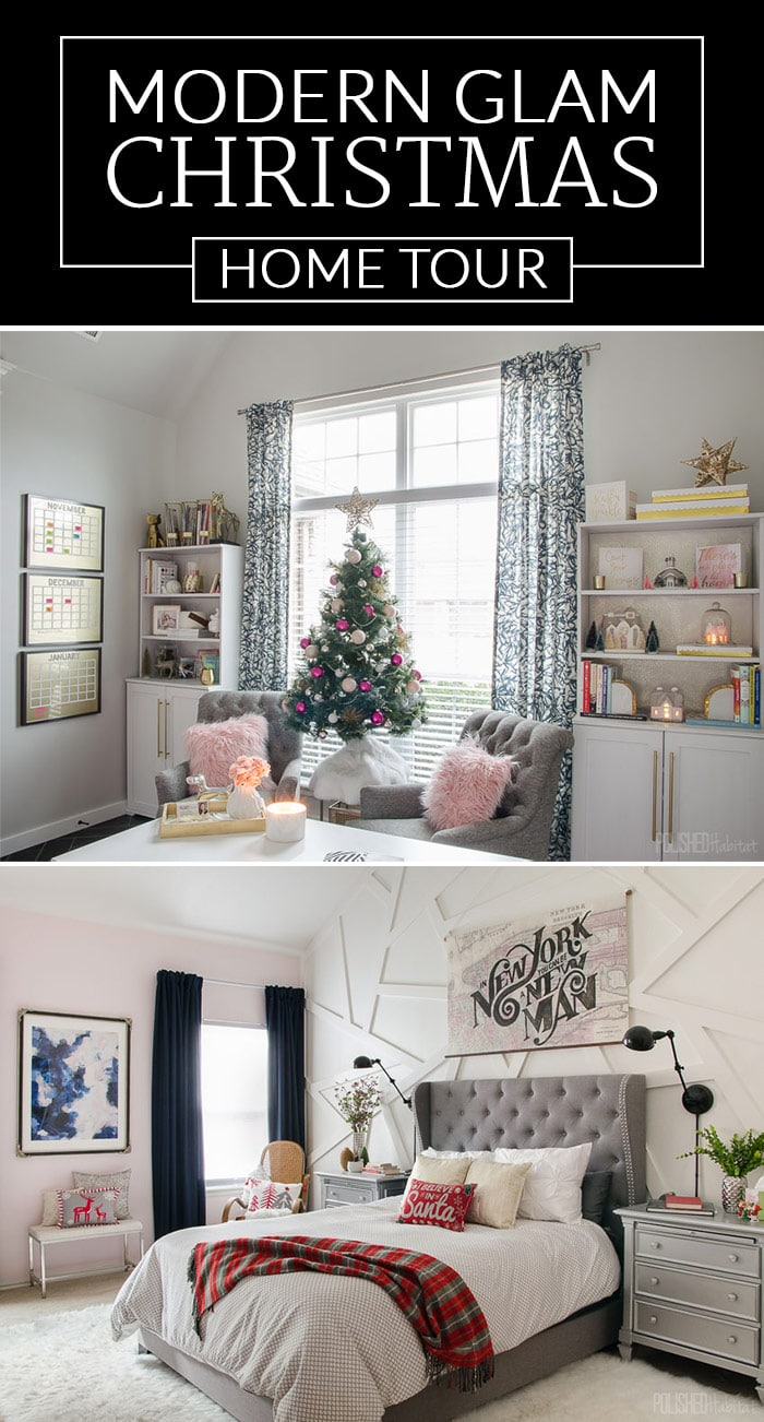 Modern Glam Christmas Home Tour by Polished Habitat