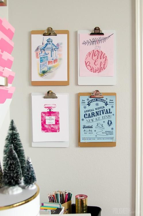 Loving this free pink Christmas printable!