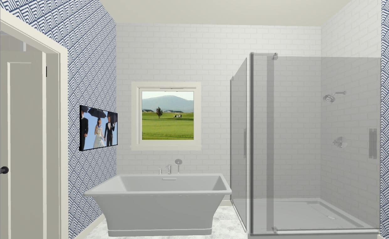 Bathroom Rendering Bathtub 2
