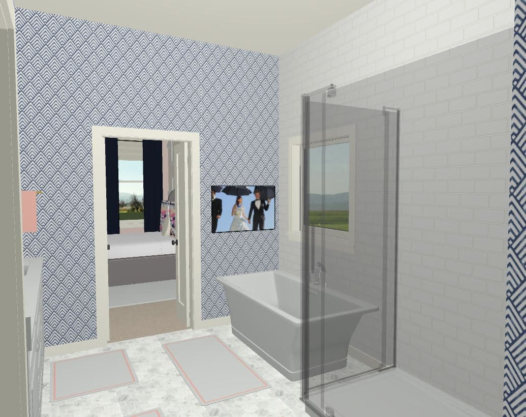Bathroom Rendering Bathtub