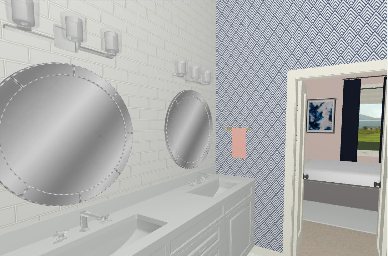 Bathroom Rendering with Kohler