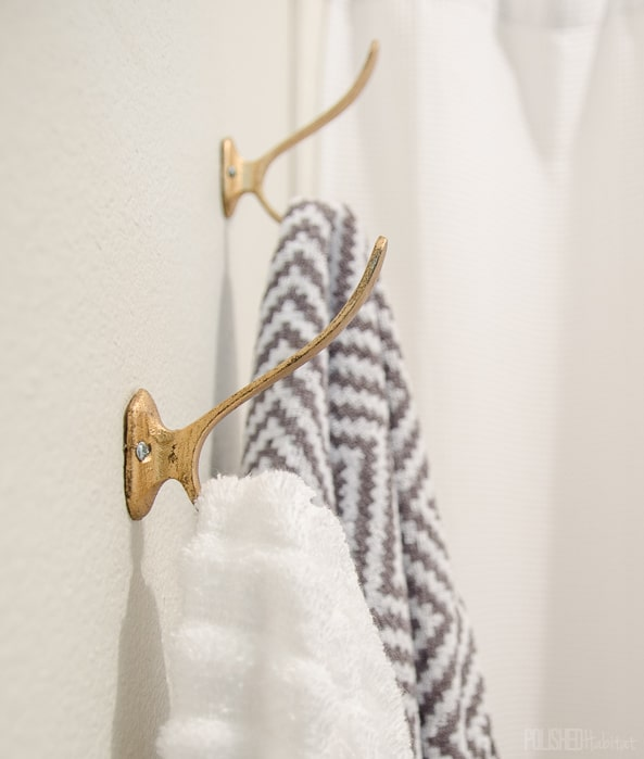 I can't believe these towel hooks were only $2.50 each - why didn't we add them to the bathroom sooner?