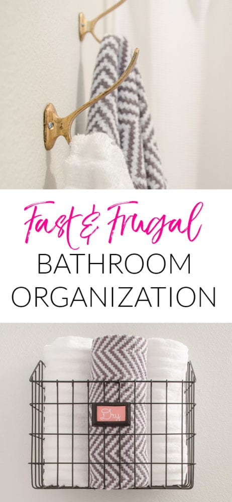 Fast bathroom organization ideas that anyone can implement in minutes. I love the modern industrial look in this guest bathroom too. So much better than the before!