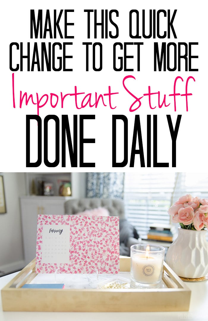 If you ever lay in bed wishing you had spent the time differently OR worrying you'll forget something important tomorrow, you need to read this tip!