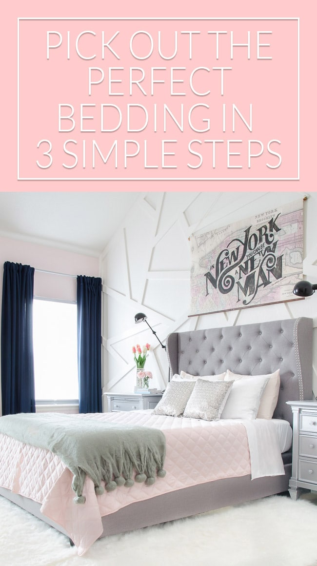 "Stop being overwhelmed by options that lead you to settle for ""Beds in a Bag"". This quick idea will make it simple to put together gorgeous bedding with less stress!"
