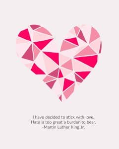 Pink Valentine with Quote