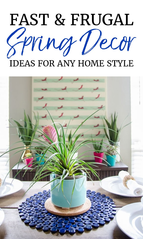 Plants as decor for spring