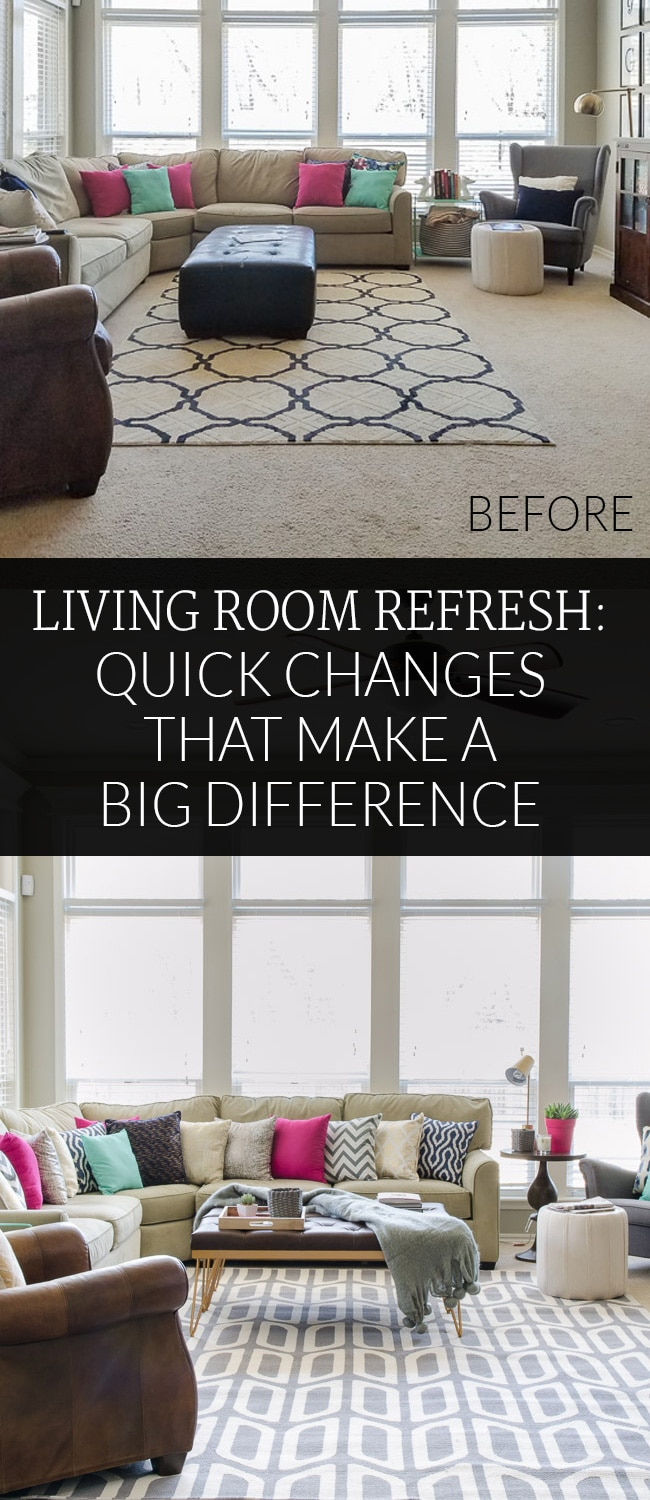 Transform your decor without buying all new furniture with these quick changes that make a BIG difference without blowing the budget.