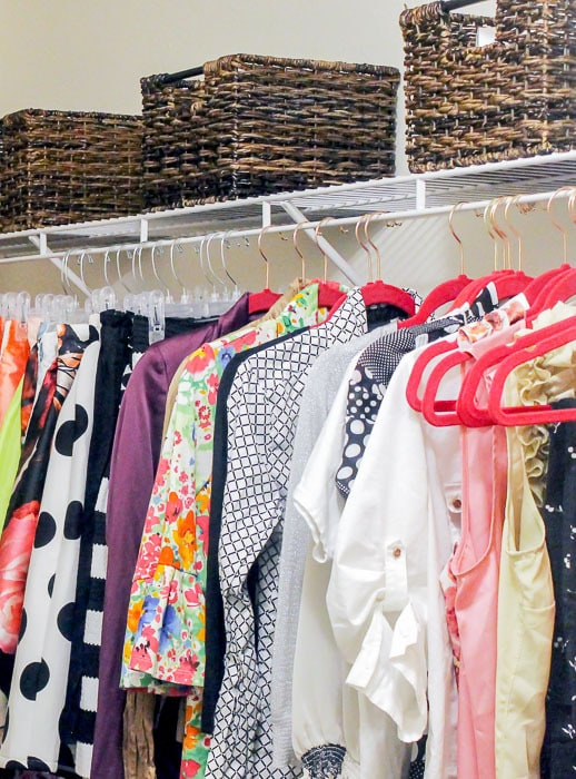 If you've got a small master closet, you need these quick tips. They're perfect for keeping the peace in a shared closet.
