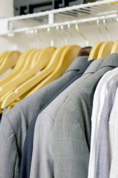 Wooden hangers are perfect for suits, but they aren't the best solution for all your clothes when space is at a premium in your closet.