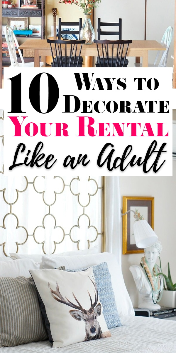 How to Decorate a Rental Like an Adult