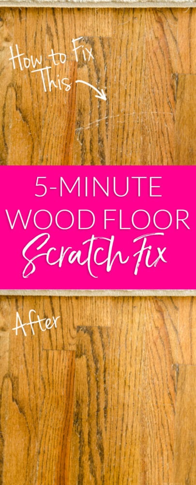 Scratches in your hardwood floors? Try this fast fix to repair your wood floors in minutes without sanding or expensive supplies!