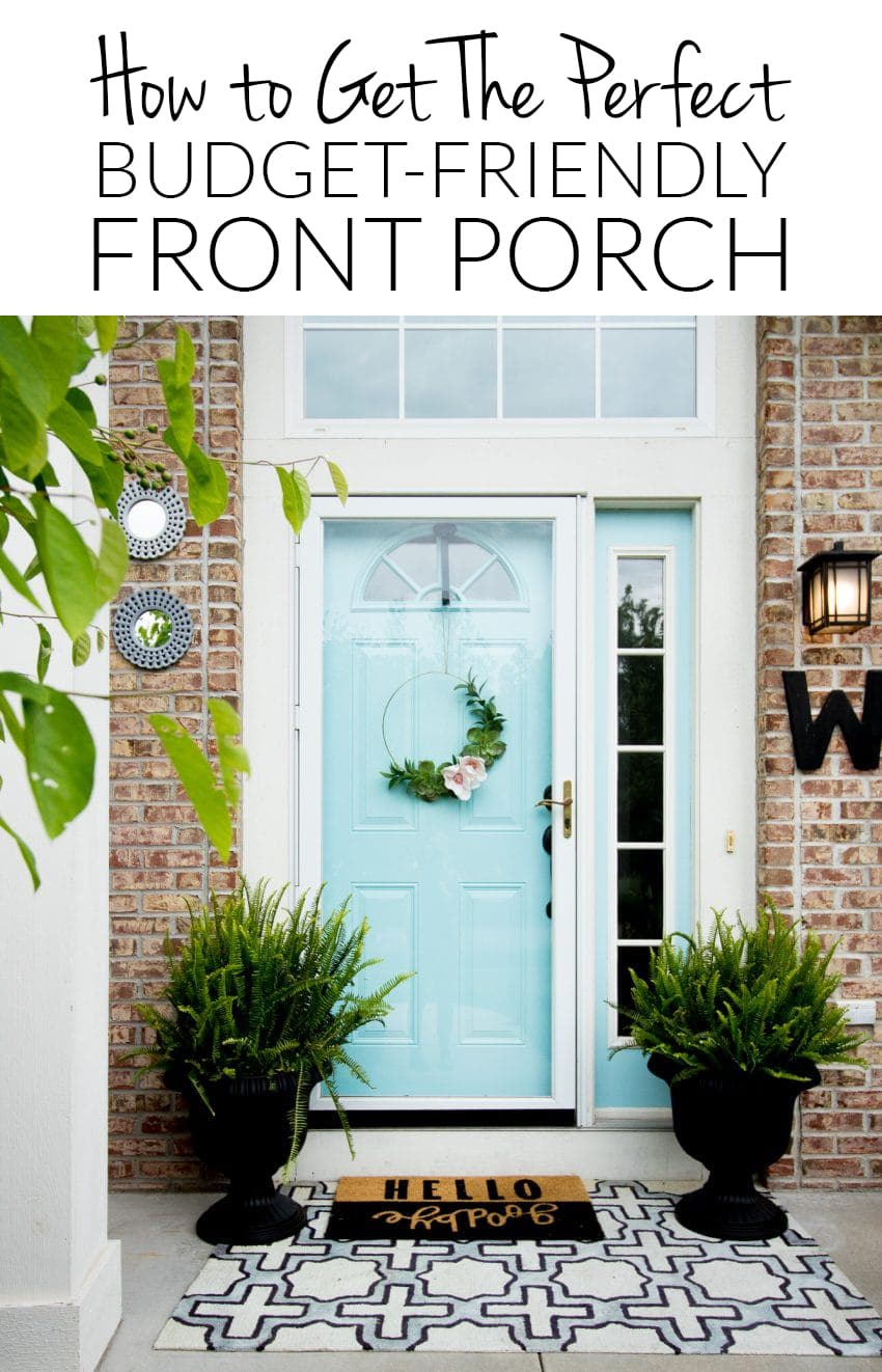 budget friendly ways to spruce up your front porch polished habitat. Black Bedroom Furniture Sets. Home Design Ideas