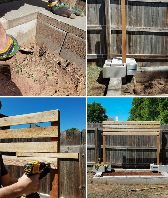Adding a Cedar Horizontal Slate Backing When Building a Raised Garden Bed