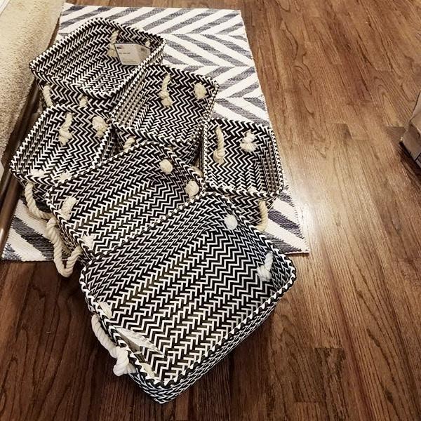 Modern Black & White Basket