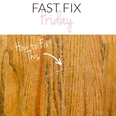 How to Repair Wood Floor Scratches {Quick Fix Friday}