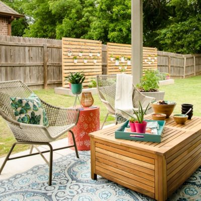 Our Dreamy Outdoor Retreat from Technology – Back Porch Makeover Reveal!