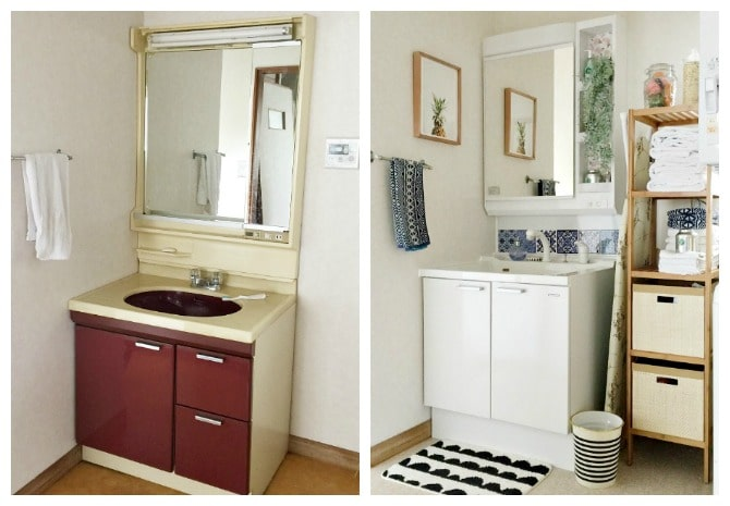 rental bathroom before and after