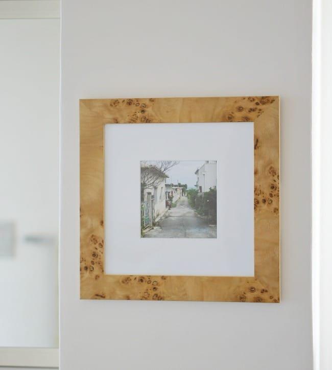 professionally framed photo for bathroom art
