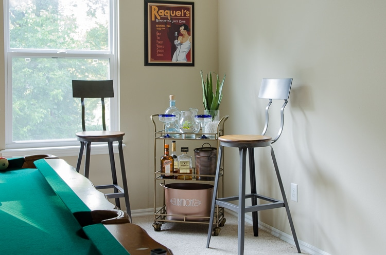 Industrial Bar Stools with a Back - Game Room Ideas
