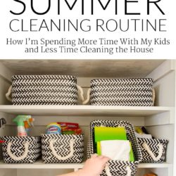 """Busy Summer? - Here's how I """"cheat"""" and still keep a clean house!"""