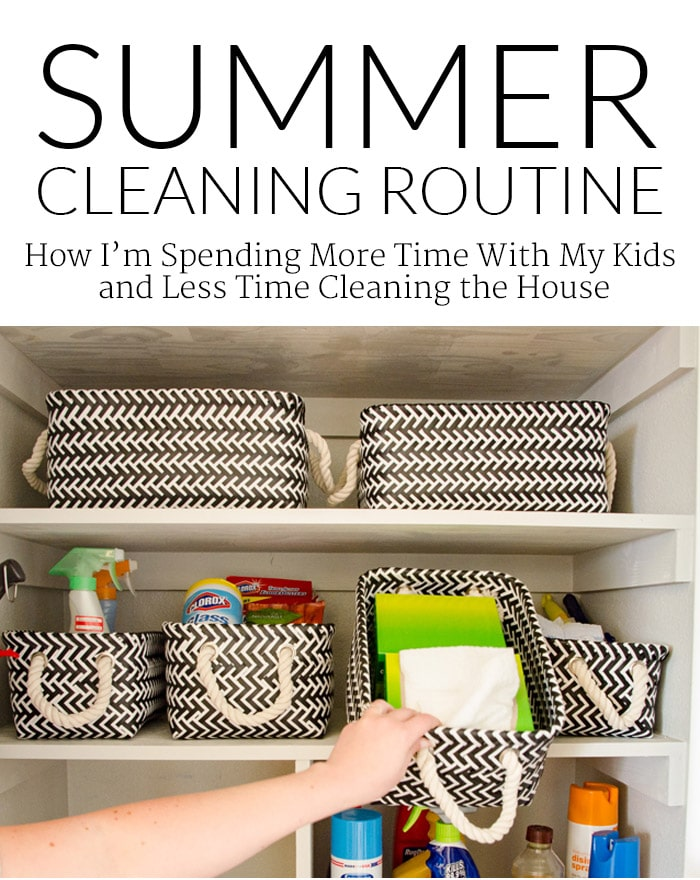 "Busy Summer? - Here's how I ""cheat"" and still keep a clean house!"
