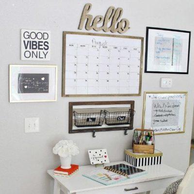 Organized Homework Station {Tips for Elementary, Middle School, & High School Homework Stations!)