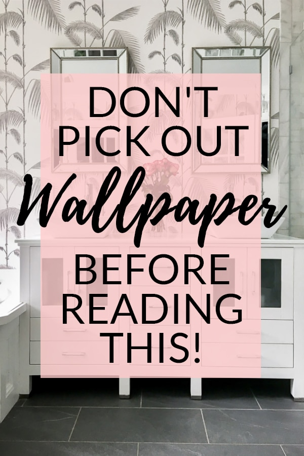 Don't Pick Out Wallpaper Before Reading This